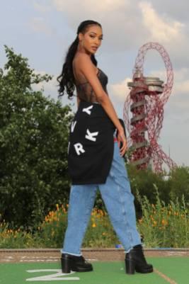Joudan Dunn in Ivy Park al Beyoncé and Jay Z OTR tour, London