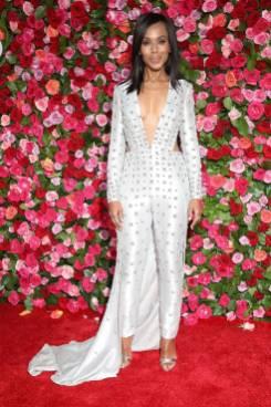 Kerry Washington in Versace ai 72nd Annual Tony Awards, New York