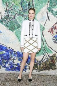 Lea Seydoux in Louis Vuitton al Louis Vuitton Cruise 2019 show, France