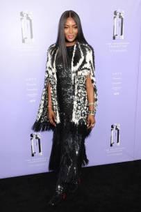 Naomi Campbell in Alexander McQueen ai Fragrance Foundation Awards, New York
