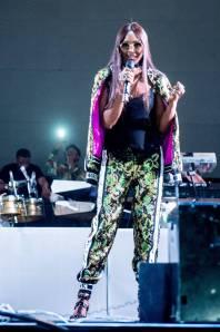 Naomi Campbell in Dolce&Gabbana all'Afro Republik festival, London