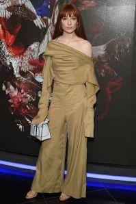 Nicola Roberts in Alexander McQueen alla premiere of the film McQueen, London