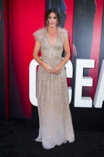Sandra Bullock in Elie Saab all''Ocean's 8' World Premiere, New York