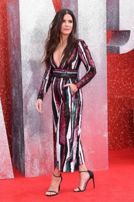 Sandra Bullock in Zuhair Murad all''Ocean's 8' film premiere, London
