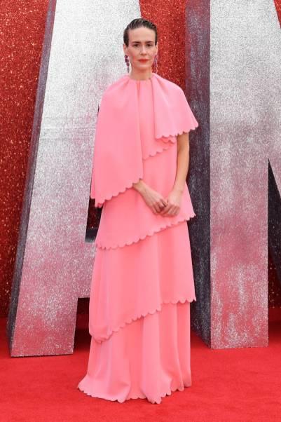 Sarah Paulson in Valentino all''Ocean's 8' film premiere, London