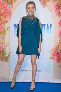 Amanda Seyfried in Prada alla premiere of Mamma Mia! Here We Go Again, Stoccolma