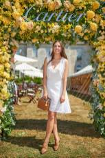 Amber Le Bon con borsa Aspinal of London al Cartier Style et Luxe at Goodwood Festival Of SpeedAmber Le Bon al Cartier Style et Luxe at Goodwood Festival Of Speed