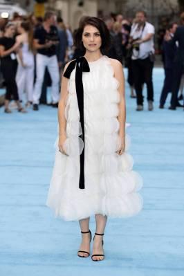 Charlote Riley in Oscar de la Renta alla Swimming With Men premiere, London