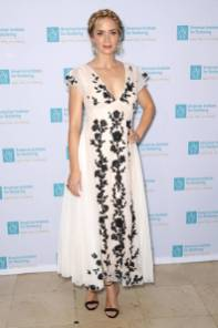 Emily Blunt in Dior e sandali Gianvito Rossi all'AIS Freeing Voices Changing Lives Gala, New York