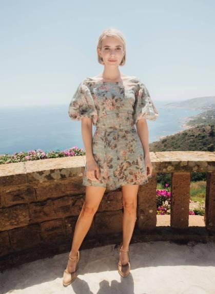 Emma Roberts in Zimmermann al Zimmermann event to celebrate the brand's new store in Saint-Tropez