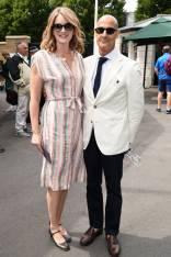 Felicity Blunt e Stanley Tucci a Wimbledon, London