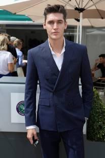 Isaac Carew in Ralph Lauren al Polo Ralph Lauren And British Vogue Wimbledon Day,London