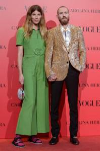 Justin O'shea e Veronika Heillbrunner in Gucci al Vogue 30th anniversary party, Madrid