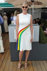 Lara Stone in Ralph Lauren al Polo Ralph Lauren And British Vogue Wimbledon Day,London