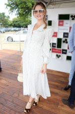Lily James all' Audi Polo at Coworth Park