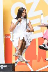 Naomi Campbell in Alaia all'Ozy Fest, New York