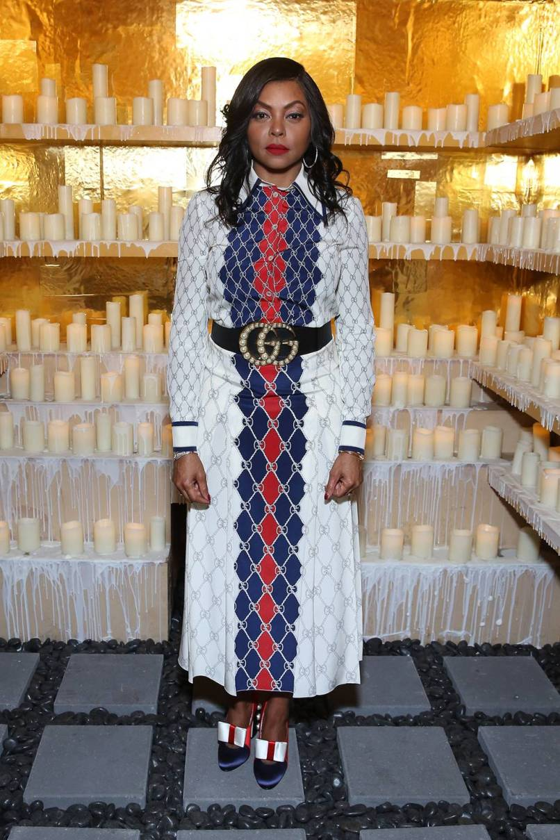 Taraji P.Henson in Gucci al Refinery29's '29Rooms Chicago Turn It Into Art' opening party, Chicago