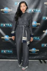 Awkwafina in Victoria, Victoria Beckham all'Extra at Universal Studios, Hollywood