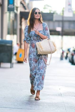 Lily Aldridge in Shop Doen, NY