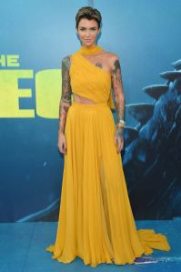Ruby Rose in Prabal Gurung alla Warner Bros. Pictures and Gravity Pictures' premiere of 'The Meg', California