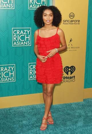 Yara Shahidi in Prada al Warner Bros. Pictures' 'Crazy Rich Asians' premiere, Hollywood