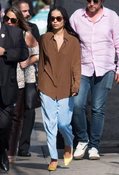 Zoe Kravitz al 'Jimmy Kimmel Live' show, Los Angeles