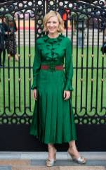 Cate Blanchett in Gucci al 'The House With The Clock In Its Walls' world premiere, London
