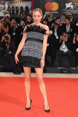 Chloe Sevigny in Chanel all'all''At Eternity's Gate' screening Venice Film Festival, Venice