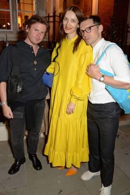 Christopher Kane, Roksanda Ilincic e Erdem Moralioglu al Matches Fashion and Prada celebrate the launch of 5 Carlos Place, London