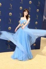 MIchelle Dockery in Carolina Herrera agli Emmy Awards, California