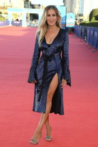 Sarah Jessica Parker in Prabal Gurung alla Here And Now premiere al Deauville Film Festival.