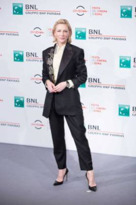Cate Blanchett in Acne Studios al 'The House With a Clock in Its Walls' Photocall, Rome