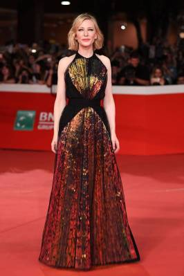 Cate Blanchett in Maison Margiela Artisanal al The House With A Clock In Its Walls' Premiere, Rome