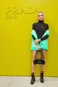 Chiara Ferragni in Prada al Prada show, Milano Fashion Week