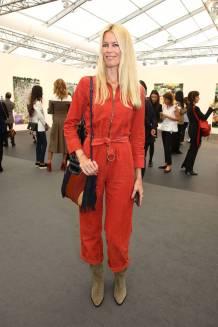 Claudia Schiffer alla VIP preview of the Frieze Art Fair, London