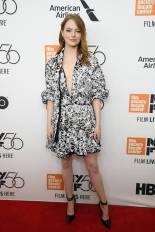 Emma Stone al New York Film Festival premiere of 'The Favourite', New York