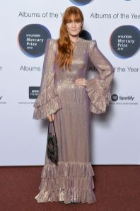 Florence Welch in The Vampire's Wife ai Mercury Prize awards, London