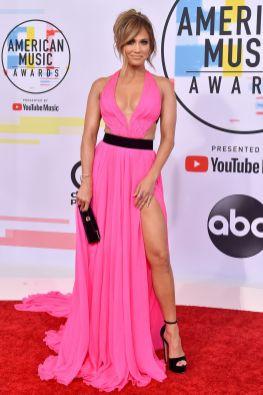 Jennifer Lopez in Georges Chakra agli American Music Awards, Los Angeles