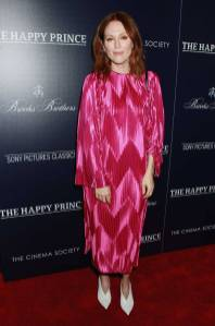 Julianne Moore in Givenchy al The Cinema Society and Brooks Brothers host a special screening of The Happy Prince, New York