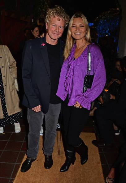 Kate Moss e Chris Levine al Chris Levine 'Inner [Deep] Space' in benefit of Elton John AIDS Foundation opening party, London
