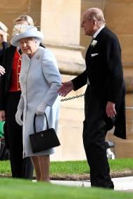 La Regina Elisabetta e il Duca di Edimburgo al matrimonio della Principessa Eugenia di York, Windsor