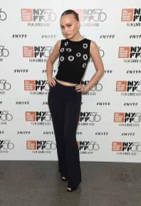 Lily-Rose Depp all'A Faithful Man screening, New York