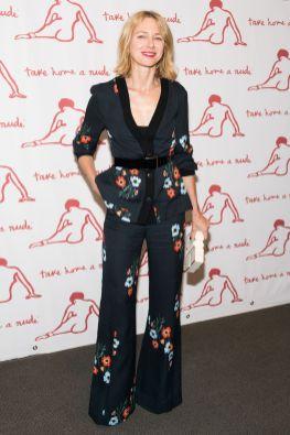Naomi Watts in Sonia Rykiel al 'Take Home A Nude' New York Academy of Art benefit.