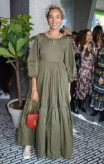 Phoebe Collings-James in Molly Goddard e Chloé al Net-a-Porter and Make A Wish host 'The Art Of Wishes' luncheon, London