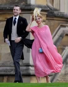 Pixie Geldof in Celine al matrimonio della Principessa Eugenia di York, Windsor