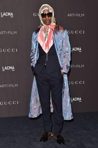 A$AP Rocky in Gucci al LACMA Art + Film Gala, Los Angeles