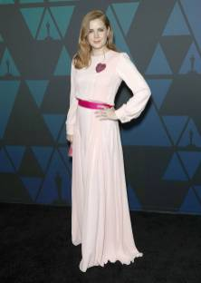 Amy Adams in Schiaparelli e gioielli Bulgari ai The Governors Awards, Hollywood