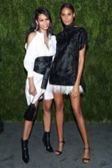 Chanel Iman e Cindy Bruna ai CFDA Vogue Fashion Fund Awards, New York