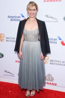 Emilia Clarke in Dior ai British Academy Britannia Awards