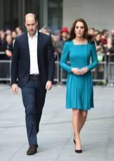 Il Duca e La Duchessa di Cambridge in Emilia Wickstead al BBC Broadcasting House, London
